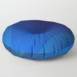 Greeting card of blue lines on a blue background. Floor Pillow