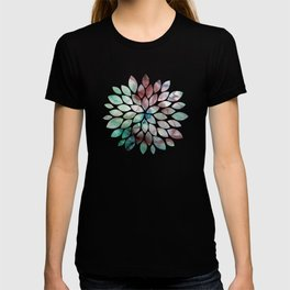 Colorful watercolor marble T-shirt