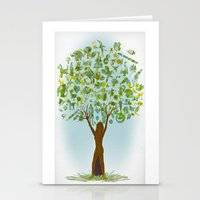 tree of life Stationery Cards featuring Life tree by Michelle Behar