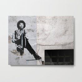 JIMI - urban ART Metal Print
