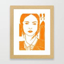 WUTHERING HEIGHTS - LINO (ORANGE VERSION)  Framed Art Print