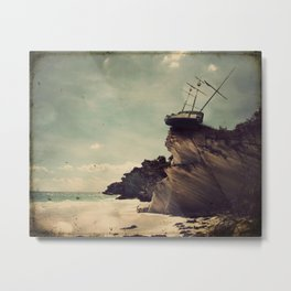 Pirate Ship Tall Ship - The Edge of the World Metal Print