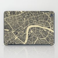london map iPad Cases featuring London map by Map Map Maps