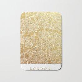 Gold London map Bath Mat
