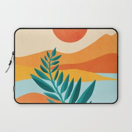 Mountain Sunset / Abstract Landscape Illustration Laptop Sleeve