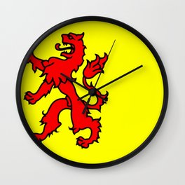 Flag of South Holland Wall Clock