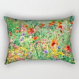 The Wild Flowers (Color) Rectangular Pillow