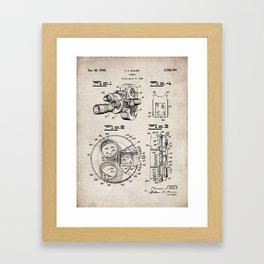 Movie Camera Patent - Film Camera Art - Antique Framed Art Print