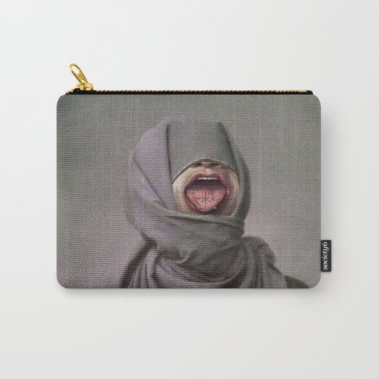 I KEEP BITING MY TONGUE Carry-All Pouch