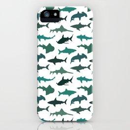 Green Sharks iPhone Case