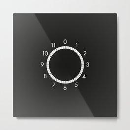Turn it up to 11 o'clock Metal Print