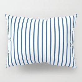 Morning Glory Blue Pin Stripe on White Pillow Sham