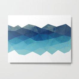 Fractal blue geometry Metal Print