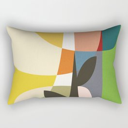 mid century garden II Rectangular Pillow
