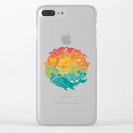 Animal Rainbow Clear iPhone Case
