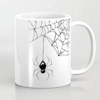 spider Mugs featuring Spider by Chrystal Elizabeth