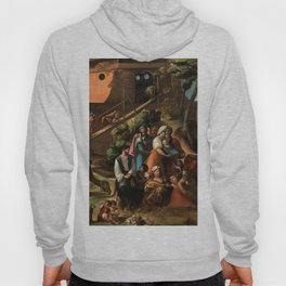 1520 Classical Masterpiece 'Entering into the Ark' by Dosso Dossi Hoody
