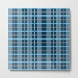 AFE Blue Plaid Pattern Metal Print