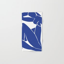 Matisse blue woman print, abstract woman print, matisse wall art, Abstract Modern Print, Hand & Bath Towel