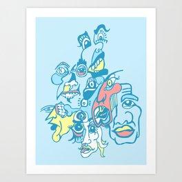 Slap-Scary Dr. Monocle  Art Print