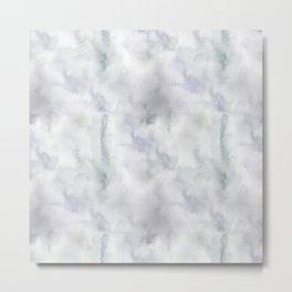 Watercolor lilac violet green abstract brushstrokes Metal Print