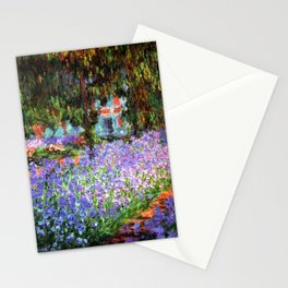 Claude Monet The Artist's Garden at Giverny Stationery Cards