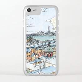 Panoramic of Genoa Clear iPhone Case
