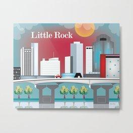 Little Rock, Arkansas - Skyline Illustration by Loose Petals Metal Print