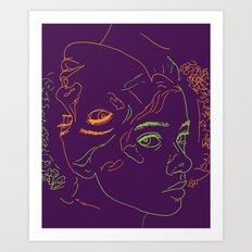 Zodiac sign of cancer Art Print