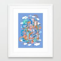 kpop Framed Art Prints featuring George's place by Polkip