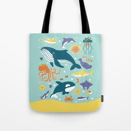 Sea Animals Tote Bag