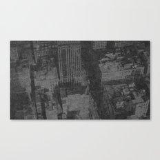 New York on Flowers Canvas Print