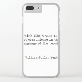 William Butler Yeats 2 Clear iPhone Case