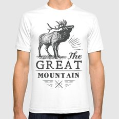 american deer Mens Fitted Tee White SMALL