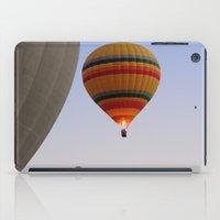 hot air balloons iPad Cases featuring HOT AIR BALLOONS by Ria Pi