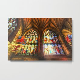 Cathedral Stained Glass Window Metal Print