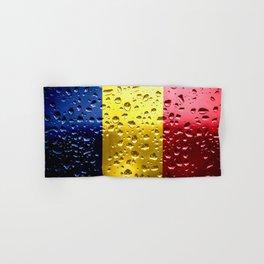 Flag of Romania - Raindrops Hand & Bath Towel