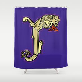 Celtic Lion Letter J 2018 Shower Curtain