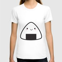 nori T-shirts featuring Kawaii Onigiri Rice Ball by Marceline Smith