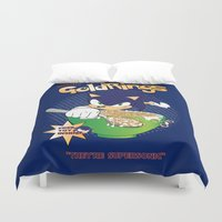 sonic Duvet Covers featuring Sonic Cereal by Icemanire