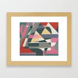 Sailing in Light Rain Framed Art Print