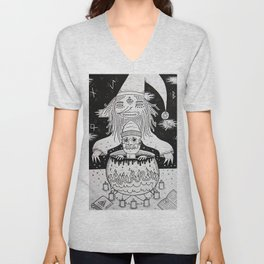 Jumped out the sorcerers cauldron. Unisex V-Neck
