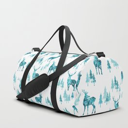 Ice Forest Deer Duffle Bag