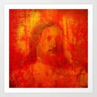 jesus Art Prints featuring Jesus by Ganech joe