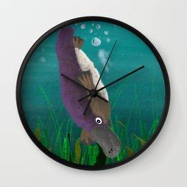 Underwater Platypus Wall Clock