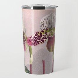 Twin Purple Vintage Orchids Cypripedium Moensianum Travel Mug