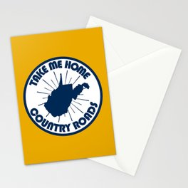 Take Me Home West Virginia Country Roads Retro Print Stationery Cards