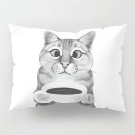 coffee cat Pillow Sham