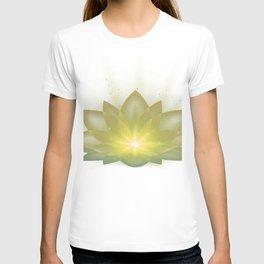 lotus flower silk T-shirt