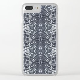 Metallic waves Clear iPhone Case